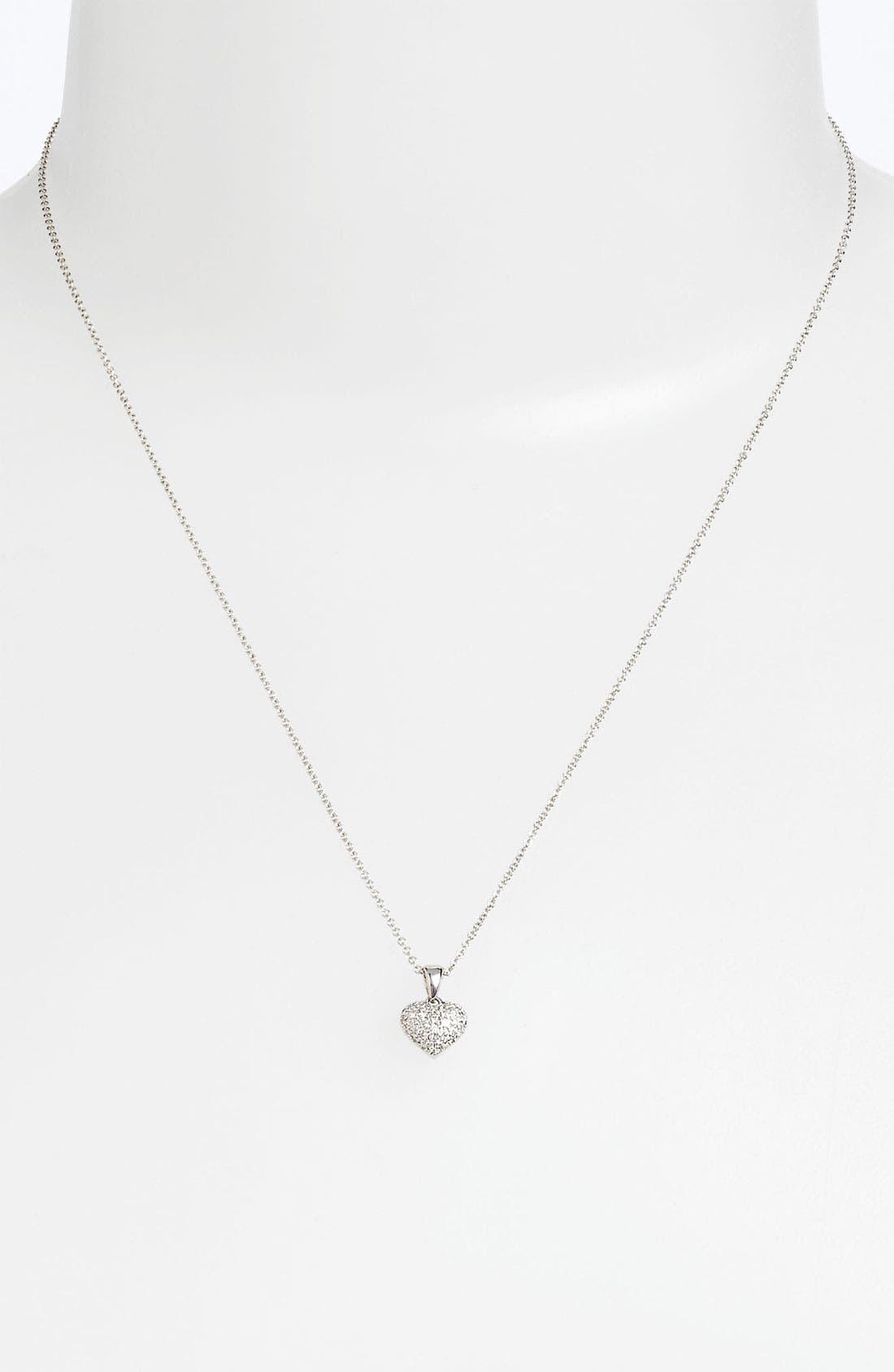 Main Image - Bony Levy Pavé Diamond Heart Necklace (Nordstrom Exclusive)