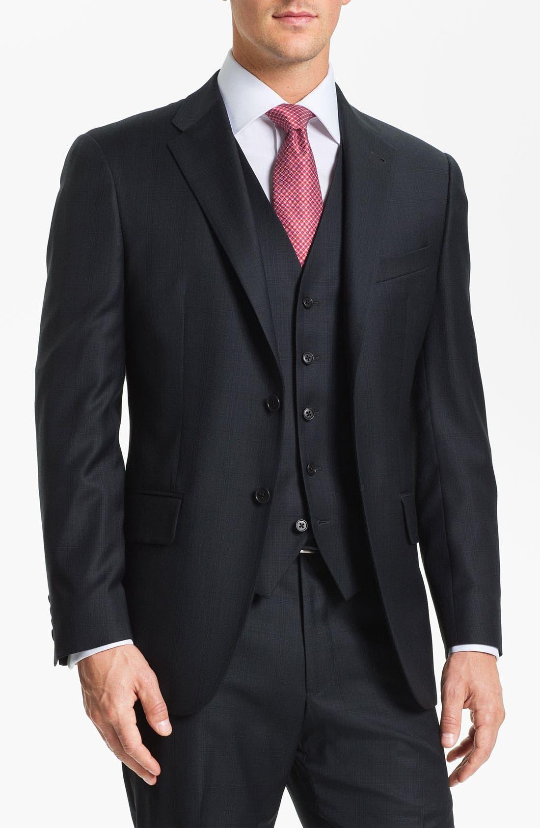Alternate Image 1 Selected - Joseph Abboud Trim Fit Three Piece Suit