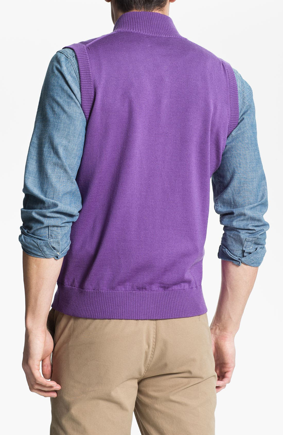 Alternate Image 2  - Thomas Dean 'Louisiana State University' Quarter Zip Sweater Vest