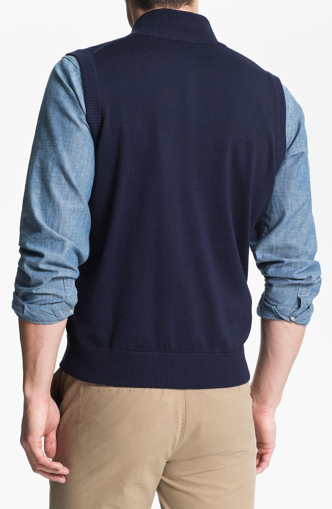 Alternate Image 2  - Thomas Dean 'Michigan' Quarter Zip Sweater Vest