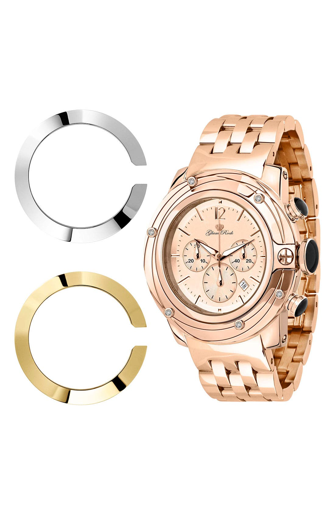 Alternate Image 2  - Glam Rock 'So Be - Lady' Diamond Accent Bracelet Watch