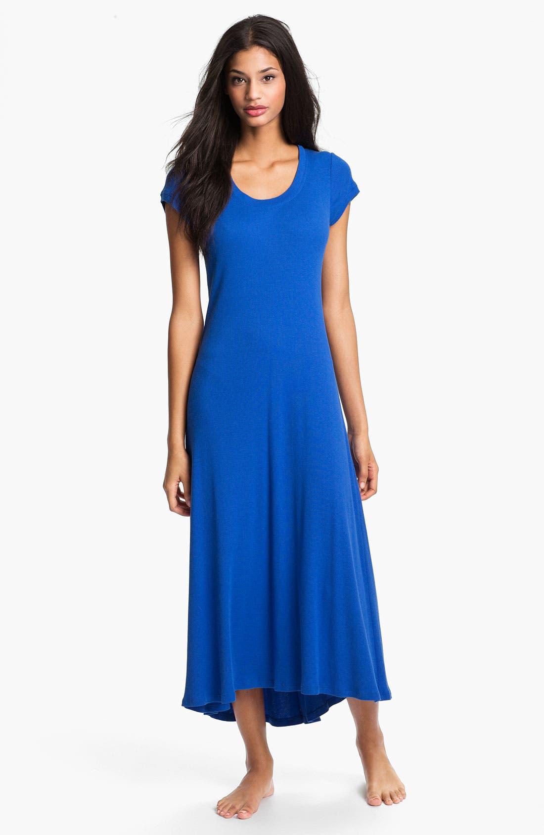 Main Image - Lauren Ralph Lauren Cap Sleeve Maxi Gown