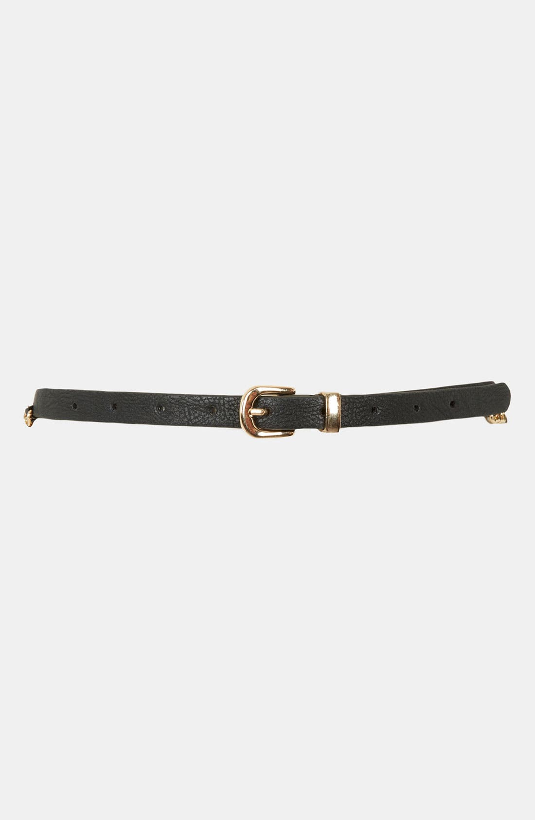 Alternate Image 1 Selected - Topshop Chain Stitch Skinny Belt