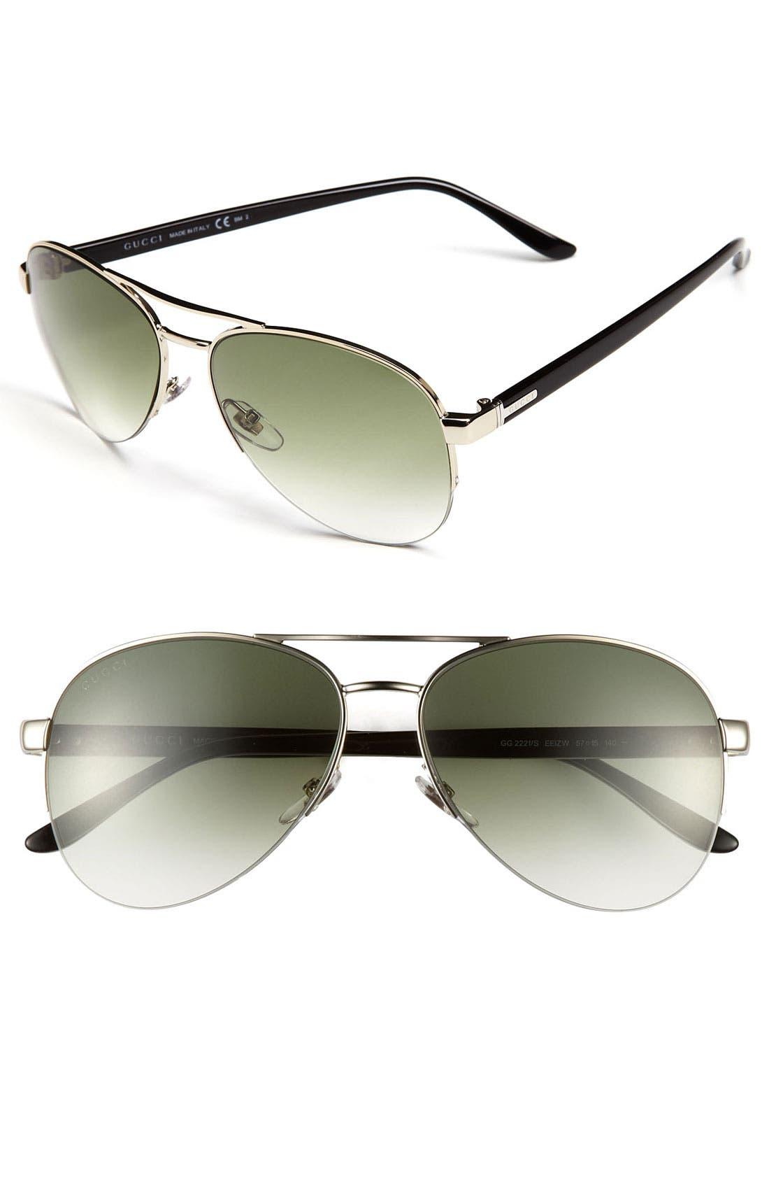 Alternate Image 1 Selected - Gucci Metal Aviator Sunglasses