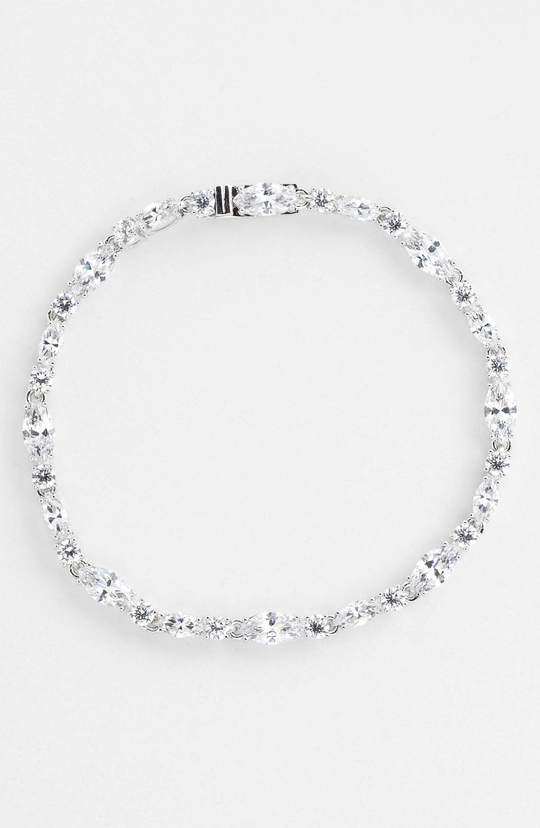 Alternate Image 1 Selected - Nadri Cubic Zirconia Cluster Line Bracelet