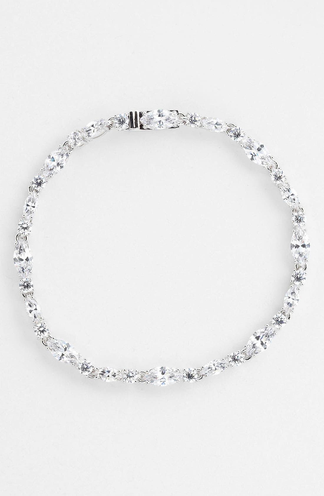 Main Image - Nadri Cubic Zirconia Cluster Line Bracelet