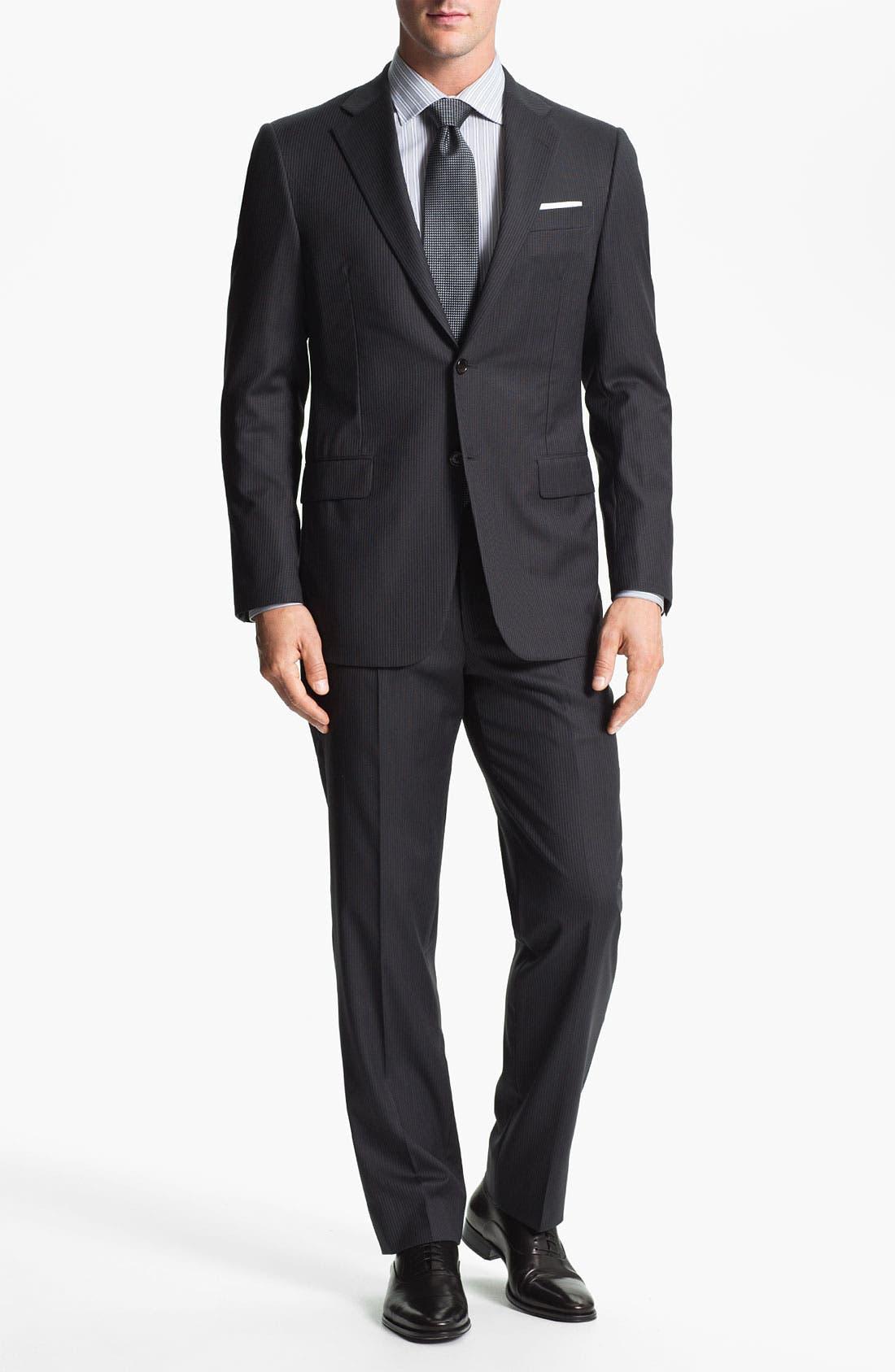 Alternate Image 2  - Hickey Freeman 'Beacon' Stripe Wool Suit