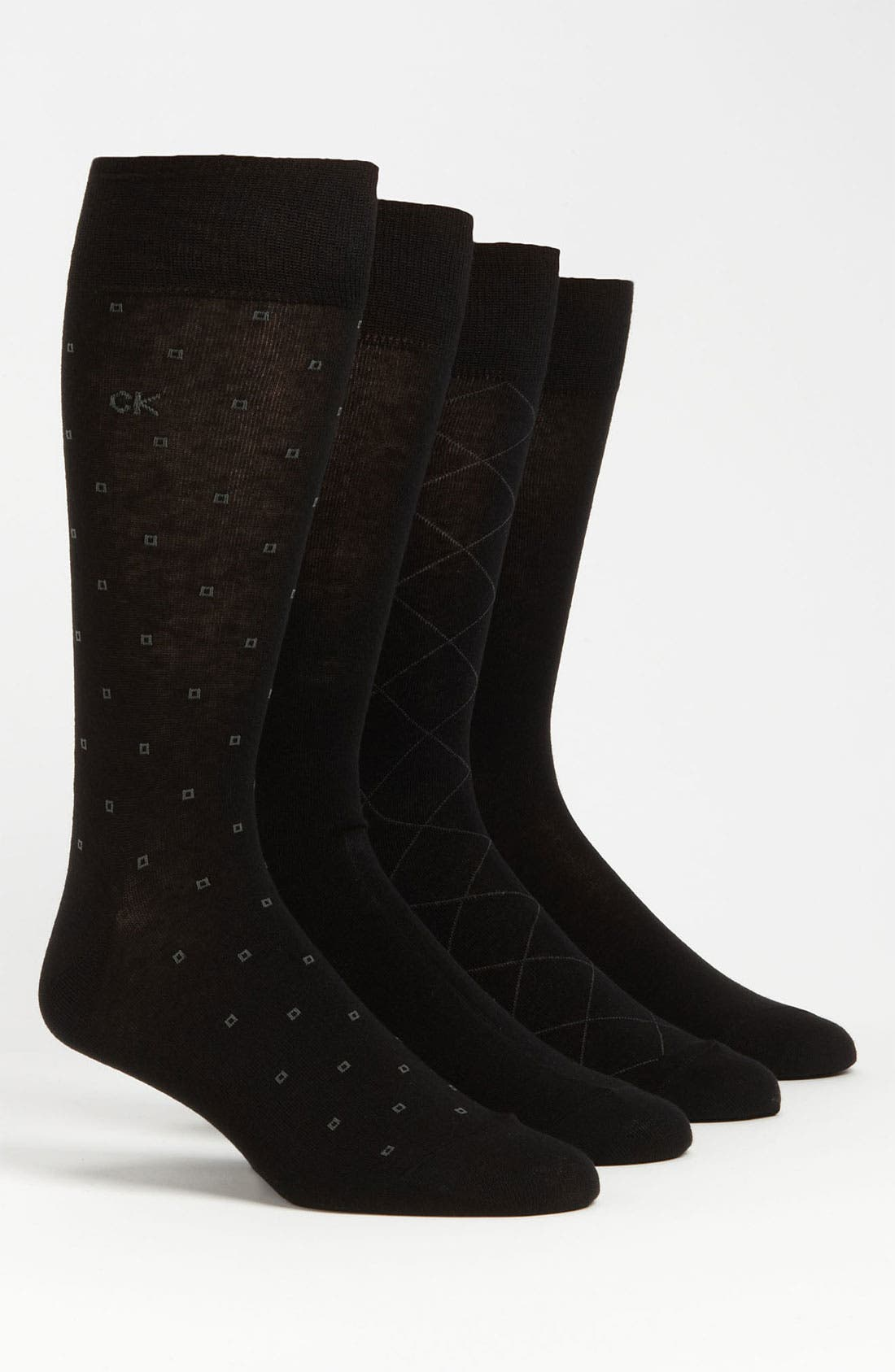 Alternate Image 1 Selected - Calvin Klein Patterned Socks (4-Pack)