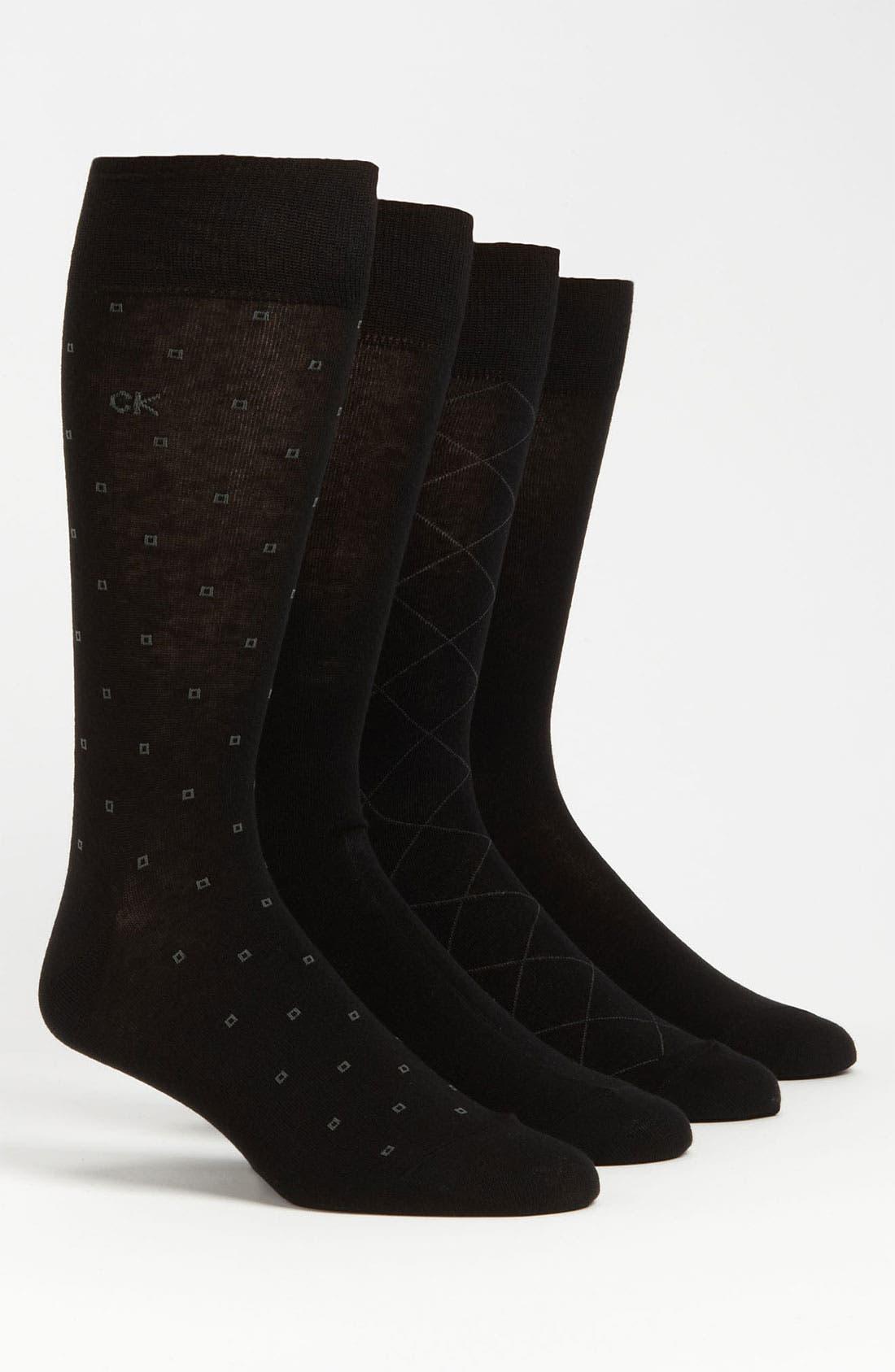 Main Image - Calvin Klein Patterned Socks (4-Pack)