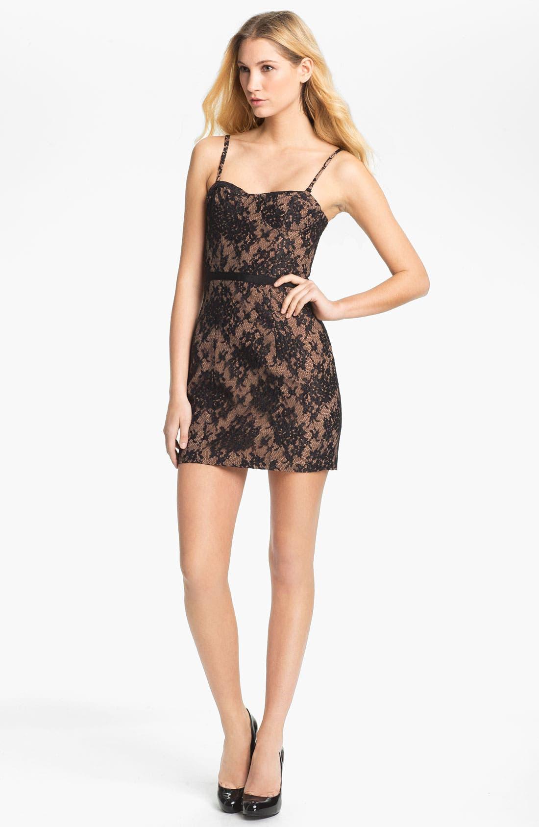 Main Image - Haute Hippie Lace Corset Dress