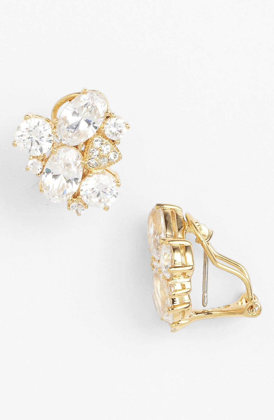 Alternate Image 1 Selected - Nadri Cubic Zirconia Cluster Clip Stud Earrings (Nordstrom Exclusive)