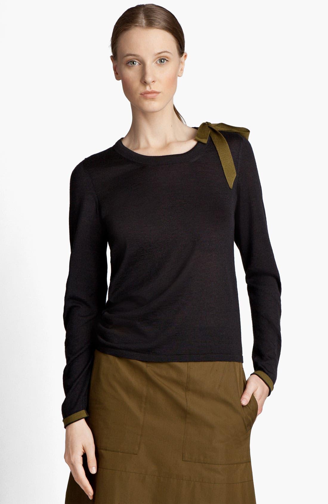 Alternate Image 2  - Jil Sander Bow Detail Cashmere & Silk Sweater