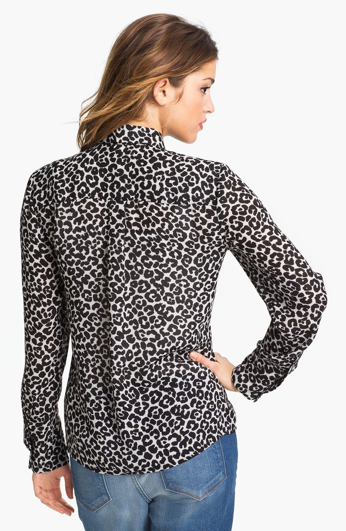 Alternate Image 2  - Vince Camuto Leopard Print Blouse
