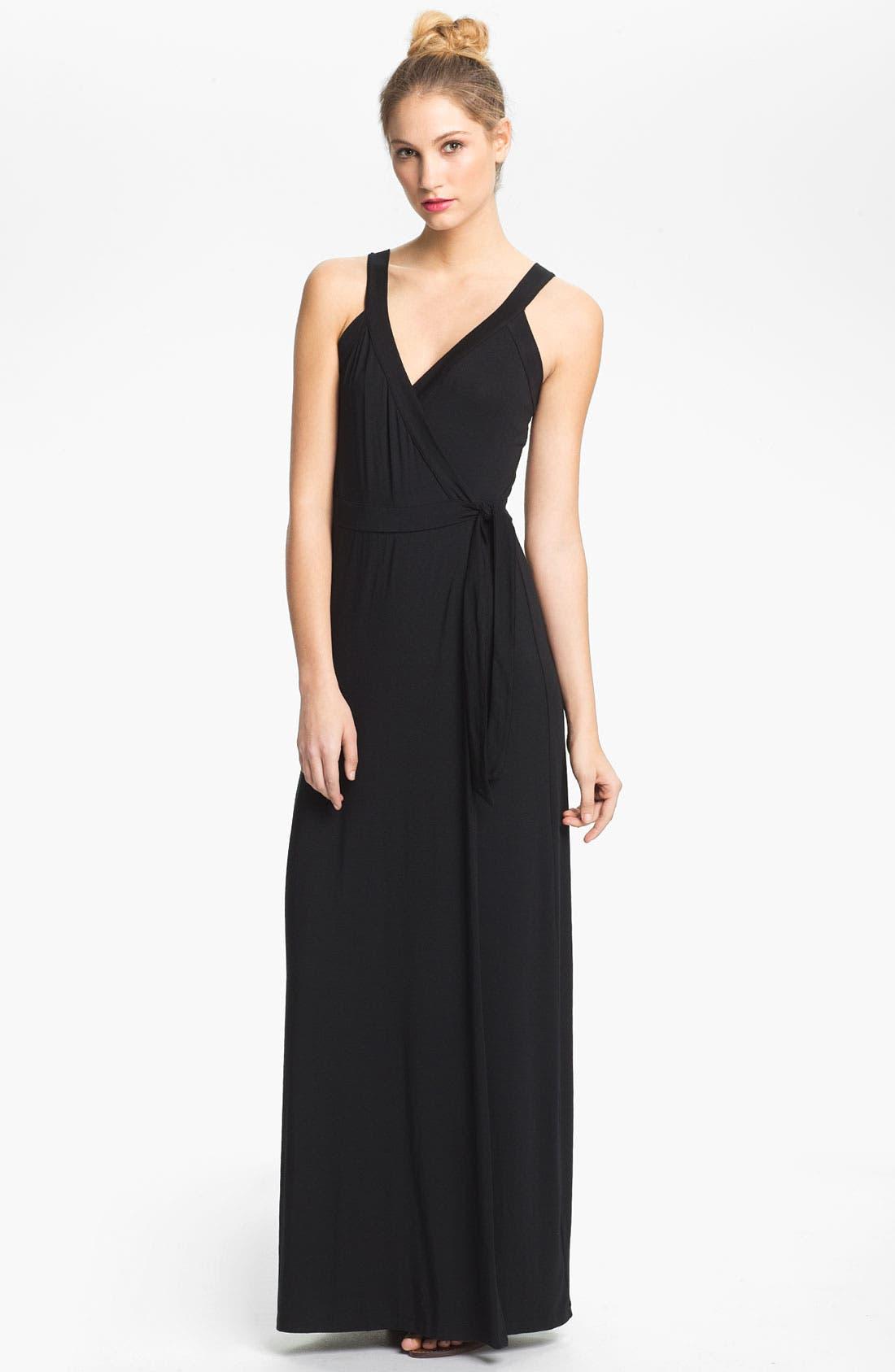Main Image - Tart 'Camille' Sleeveless Jersey Wrap Maxi Dress