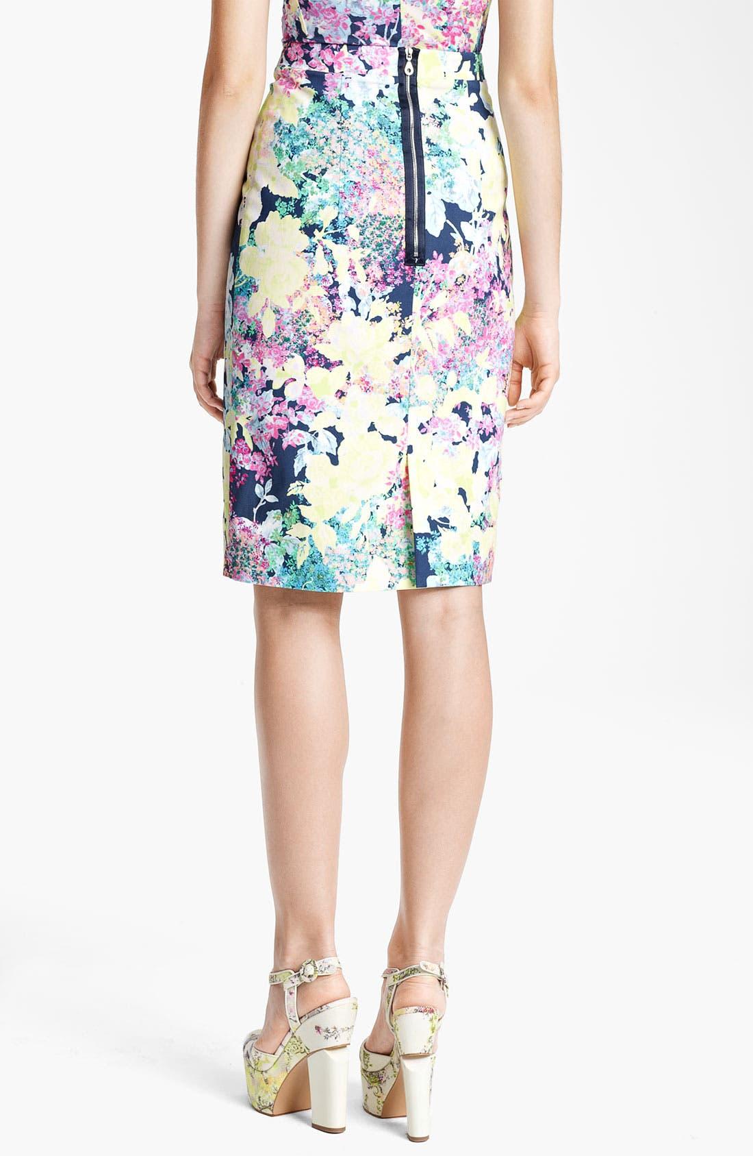 Alternate Image 2  - Erdem 'Imperial Rose' Print Pencil Skirt