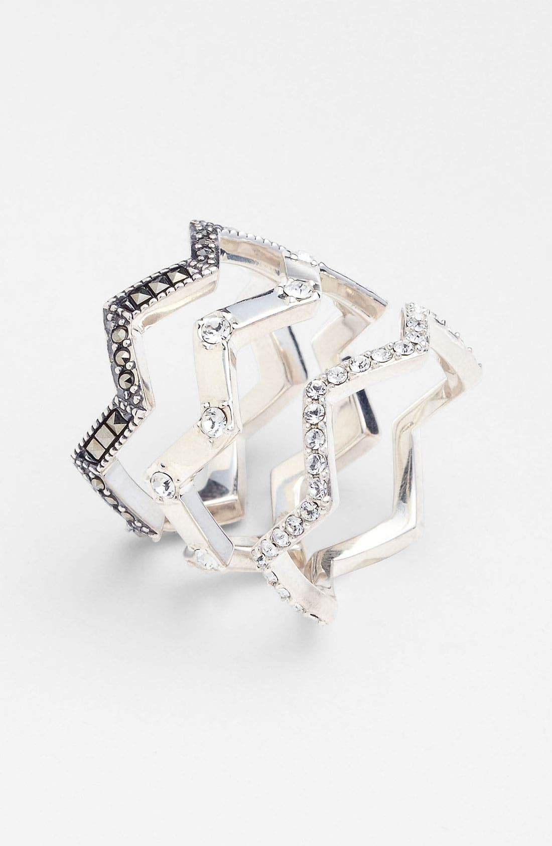Main Image - Judith Jack 'Caged In' Stackable Rings (Set of 3)