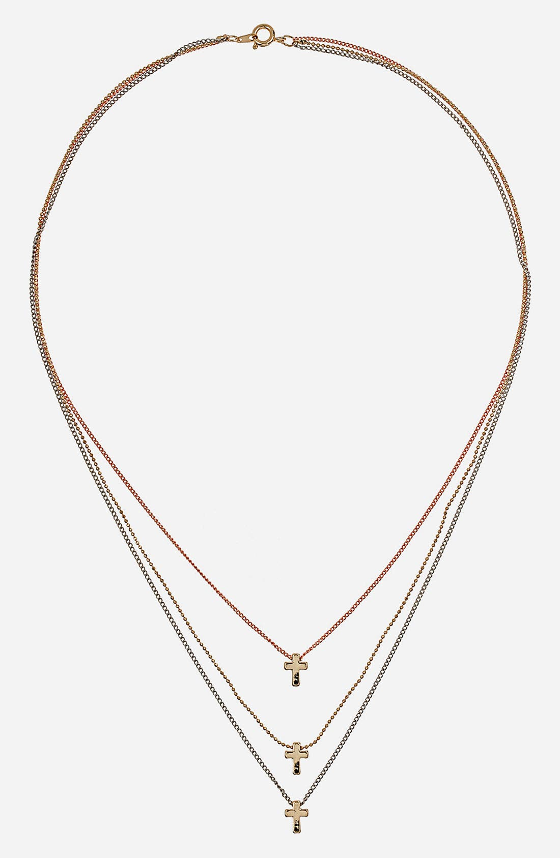 Main Image - Topshop Crosses Necklace