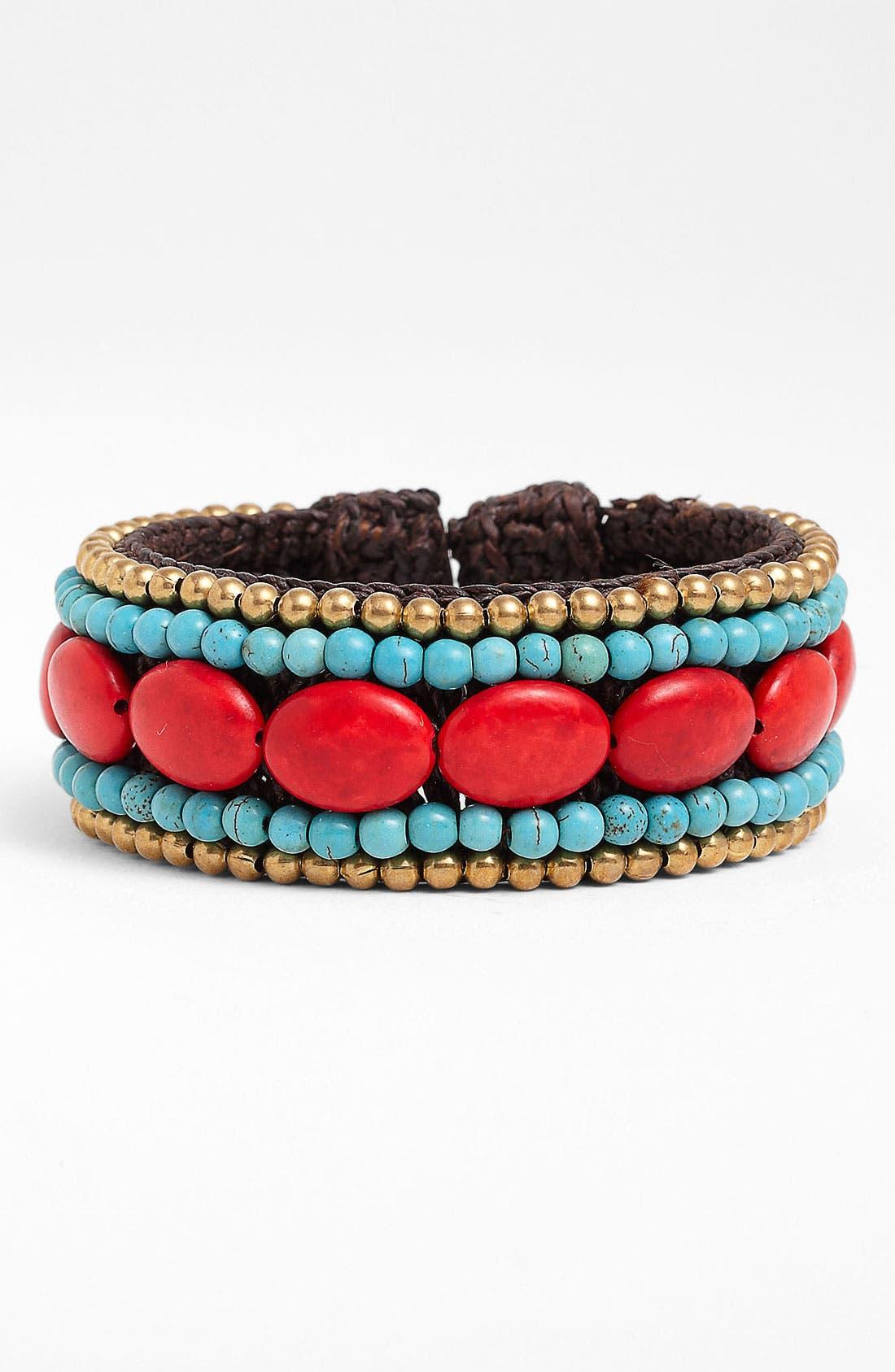 Main Image - Panacea Howlite Rope Cuff Bracelet