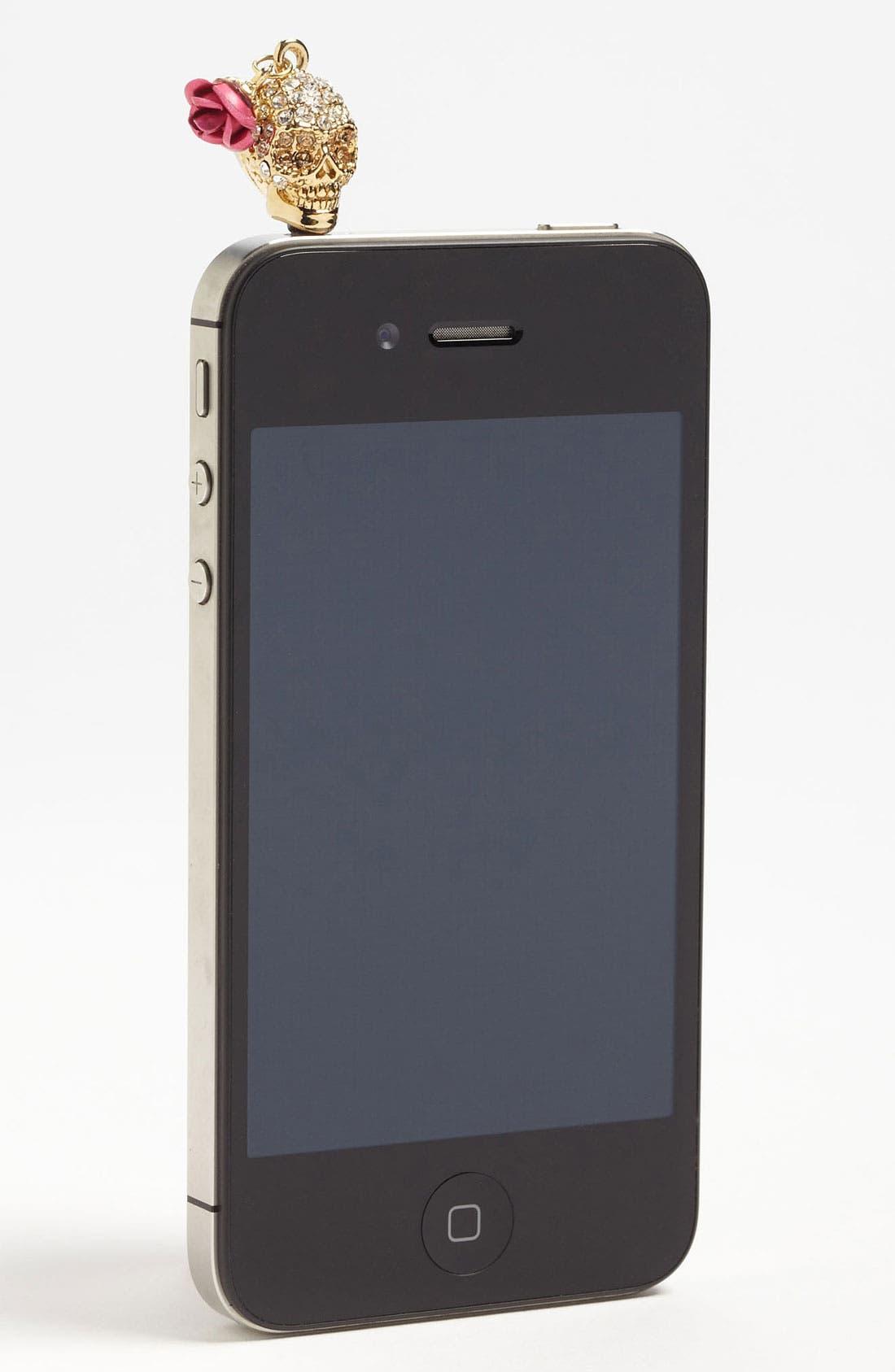 Alternate Image 1 Selected - Cara 'Skull' Smartphone Charm
