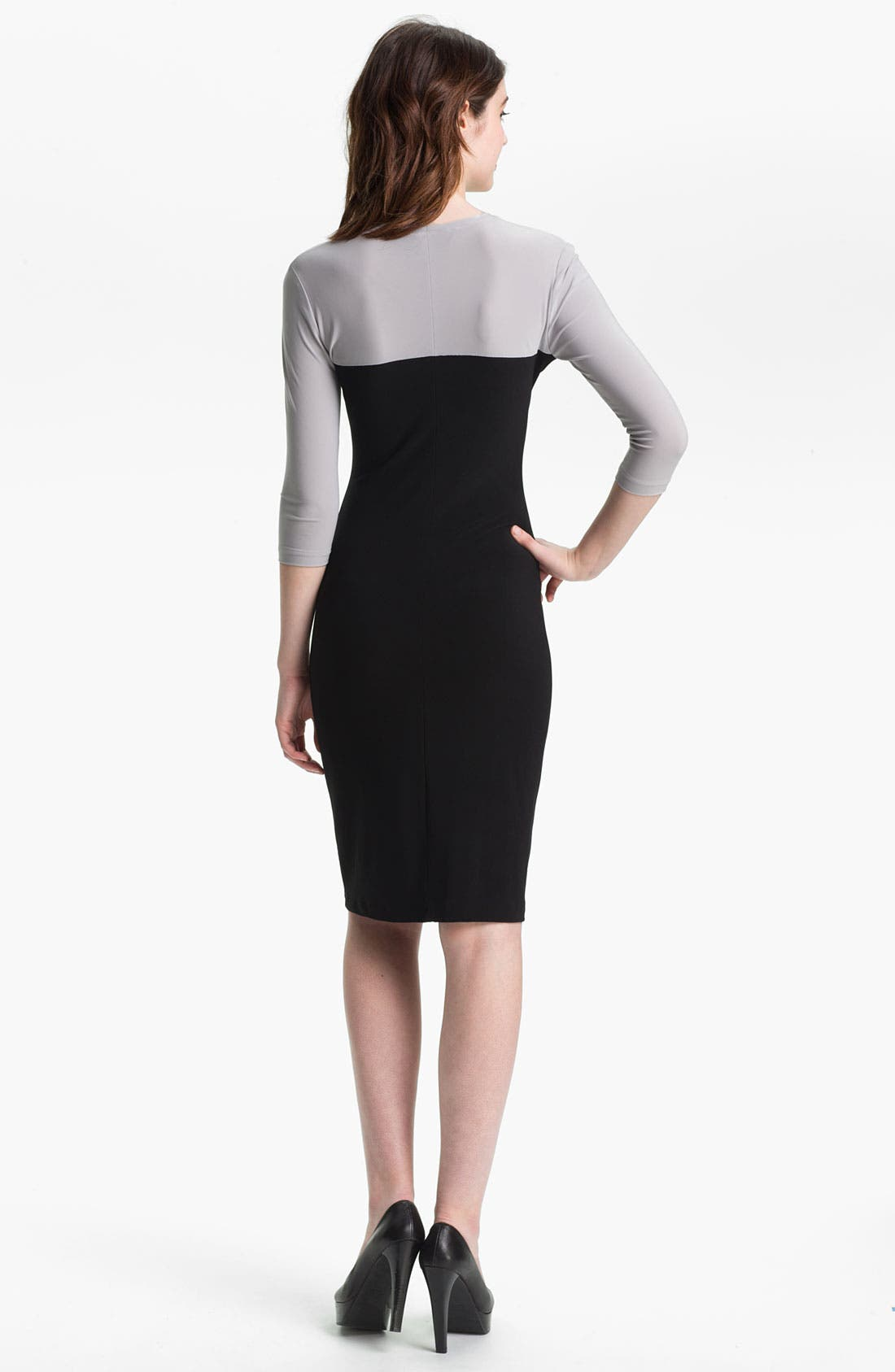 Alternate Image 2  - KAMALIKULTURE Cutout Detail Jersey Sheath Dress