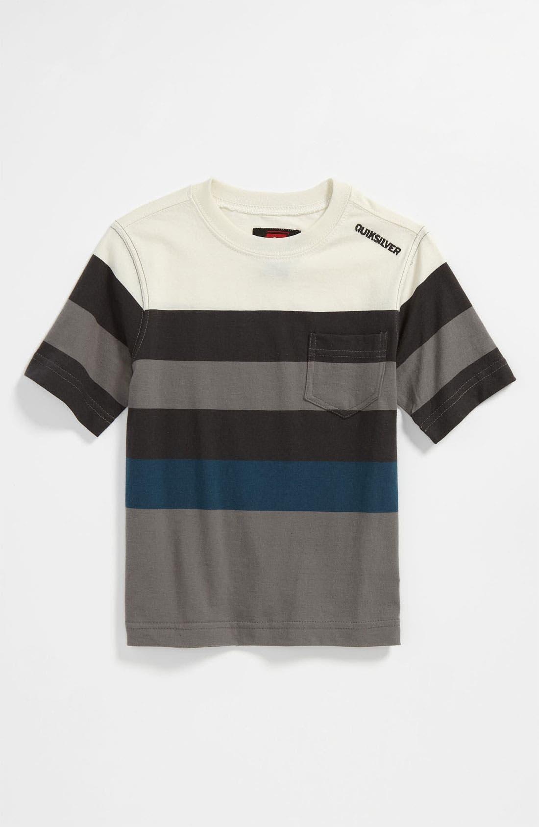 Main Image - Quiksilver 'Mobley' Stripe T-Shirt (Toddler)