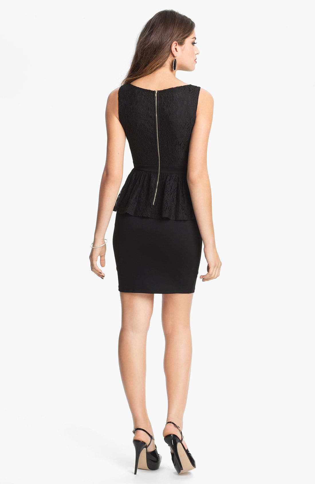 Alternate Image 2  - Soprano Peplum Body-Con Dress (Juniors)