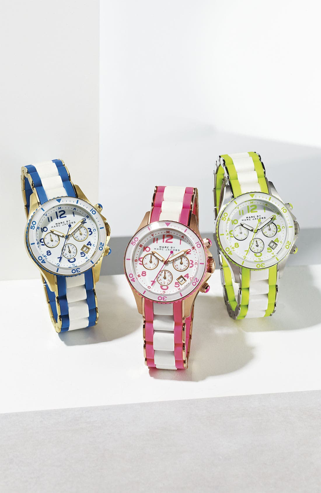 Alternate Image 2  - MARC BY MARC JACOBS 'Rock' Chronograph Silicone Bracelet Watch