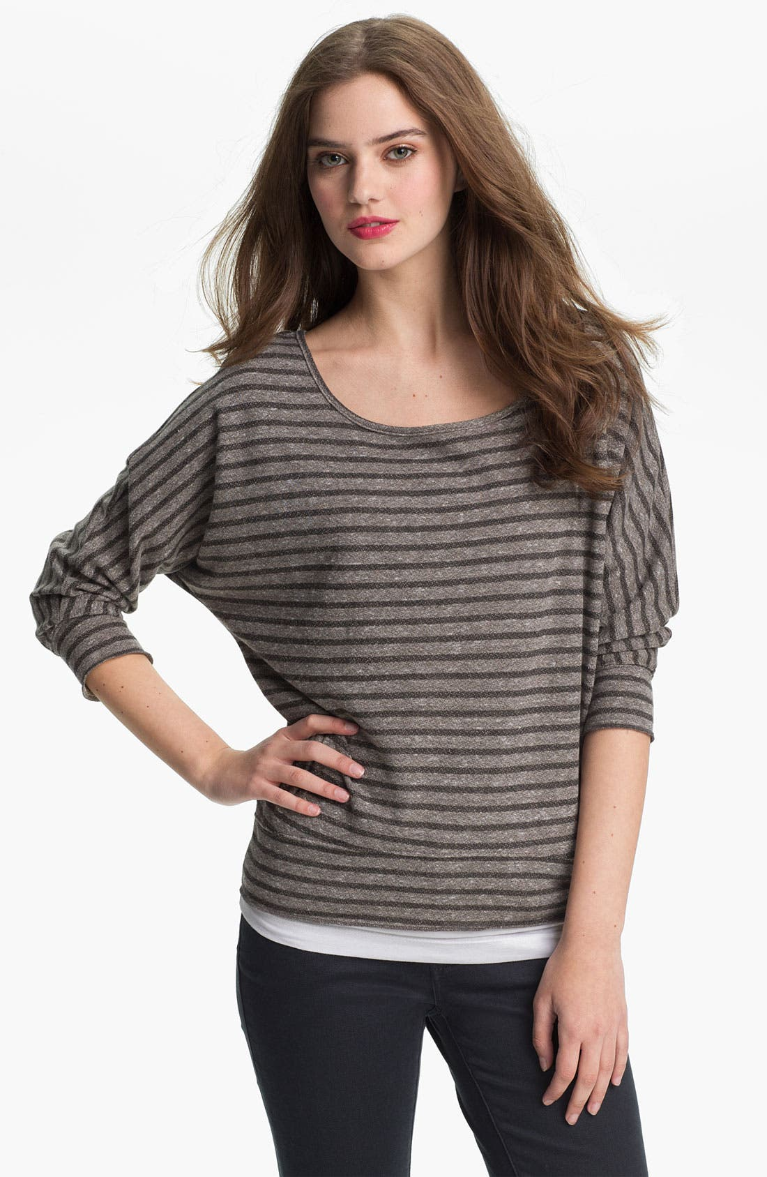 Alternate Image 1 Selected - KUT from the Kloth Scoop Neck Stripe Top