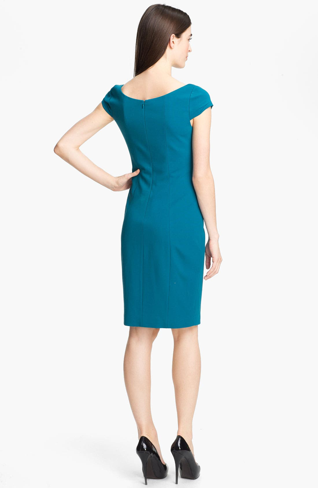 Alternate Image 2  - Elie Tahari 'Gia' Cap Sleeve Dress