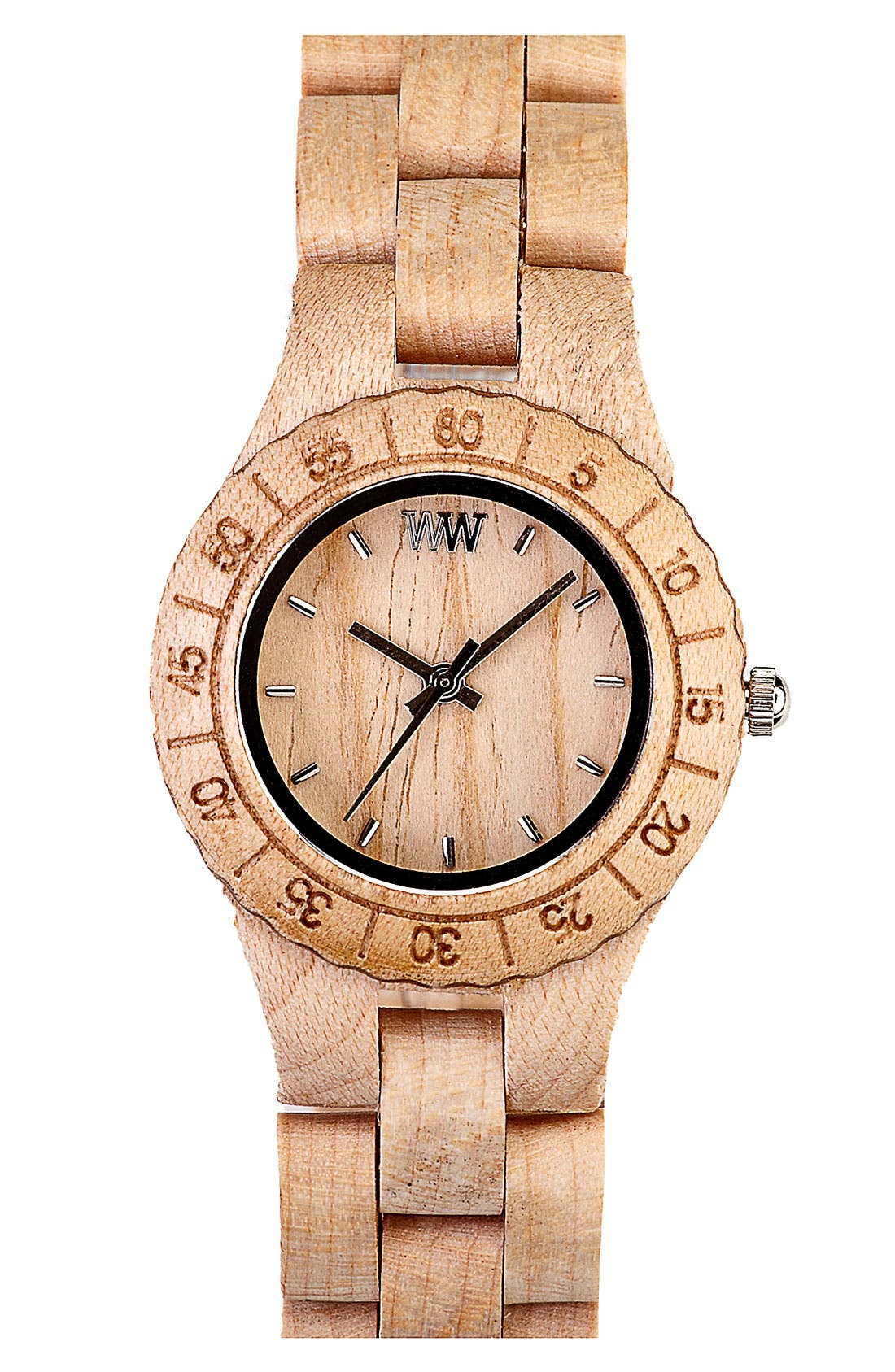 Main Image - WeWOOD 'Moon' Wood Watch, 32mm