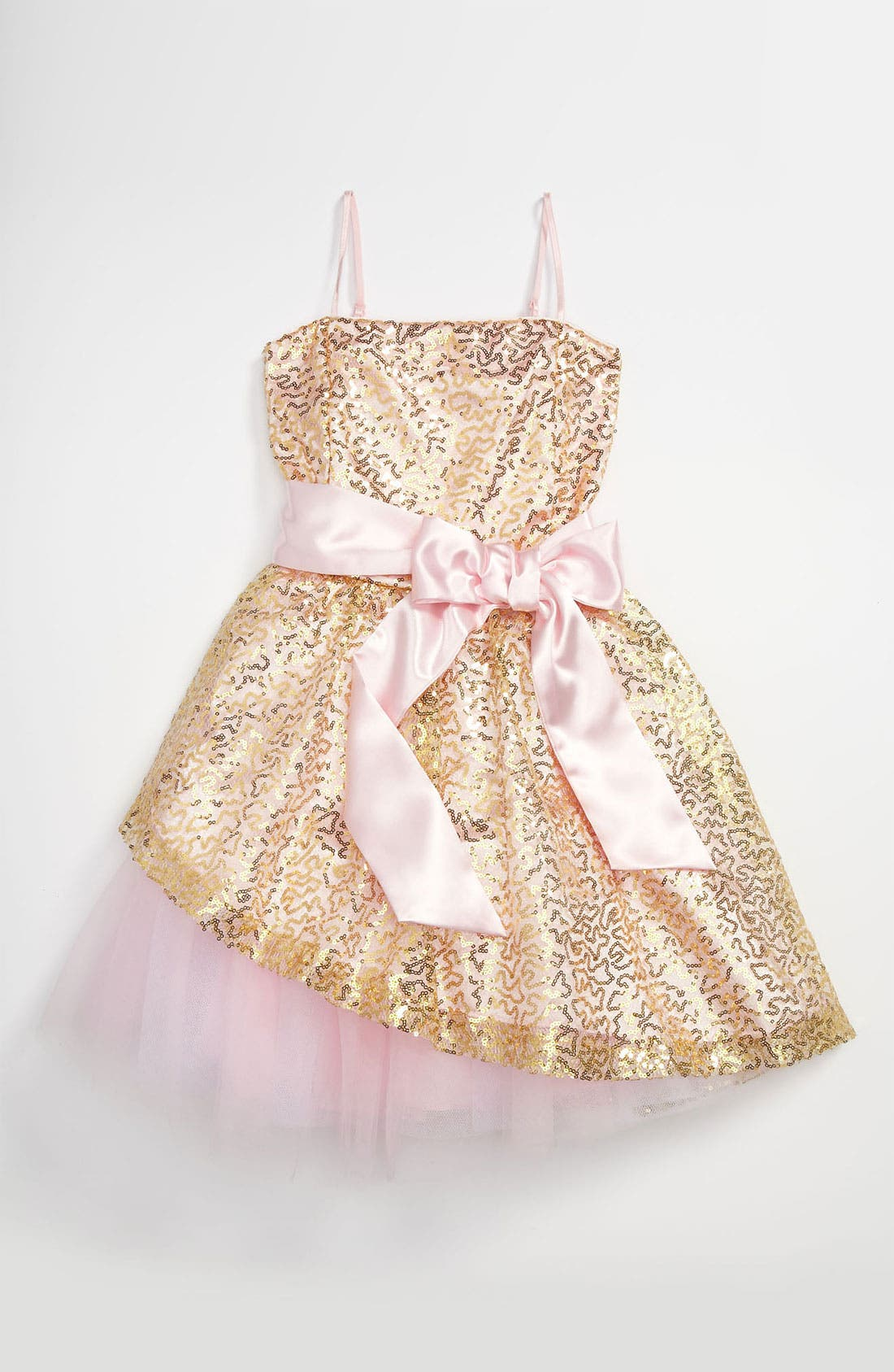Main Image - Un Deux Trois Sequin Dress (Big Girls)