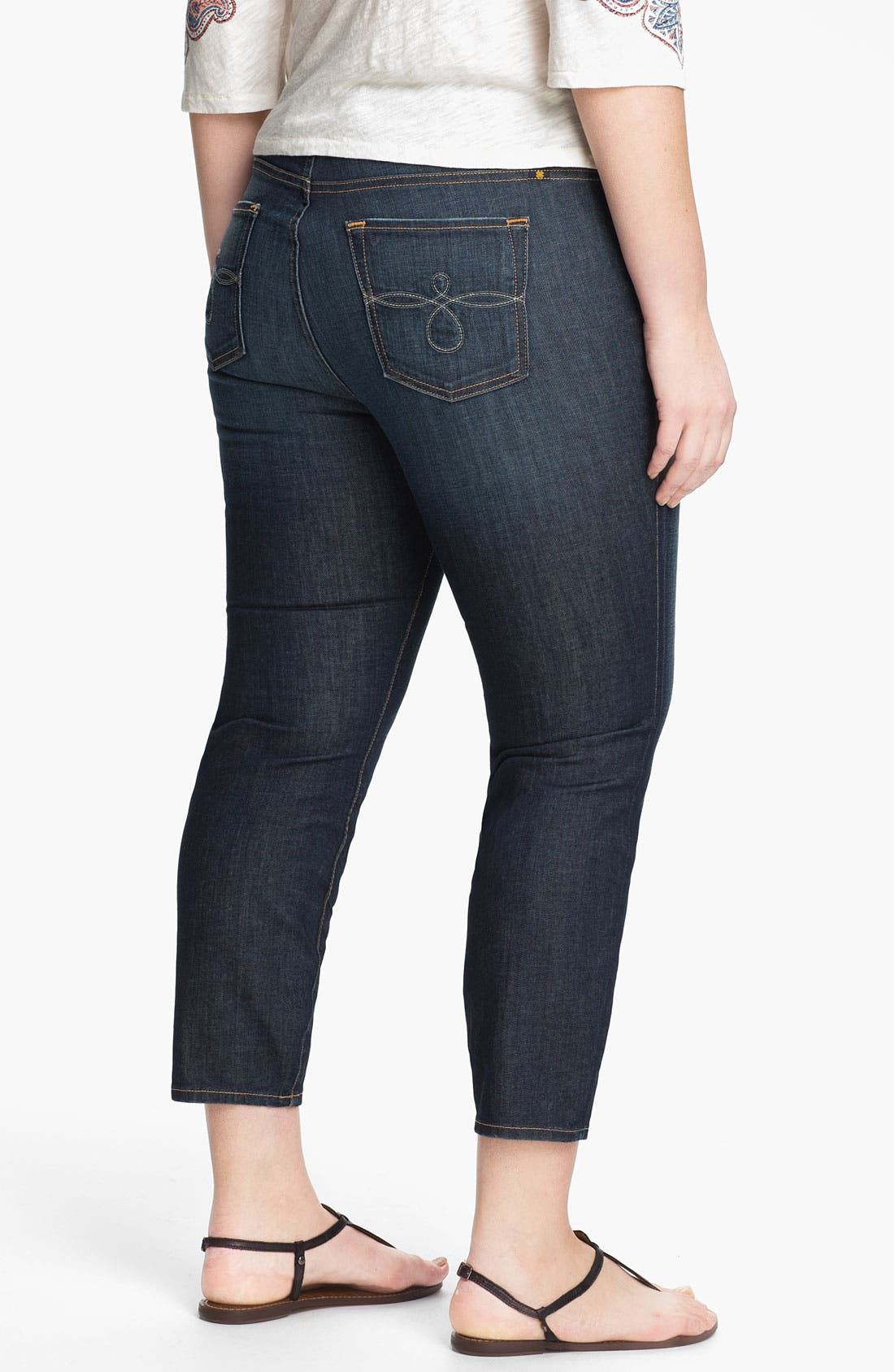 Alternate Image 2  - Lucky Brand 'Ginger' Skinny Capri Jeans (Plus Size)
