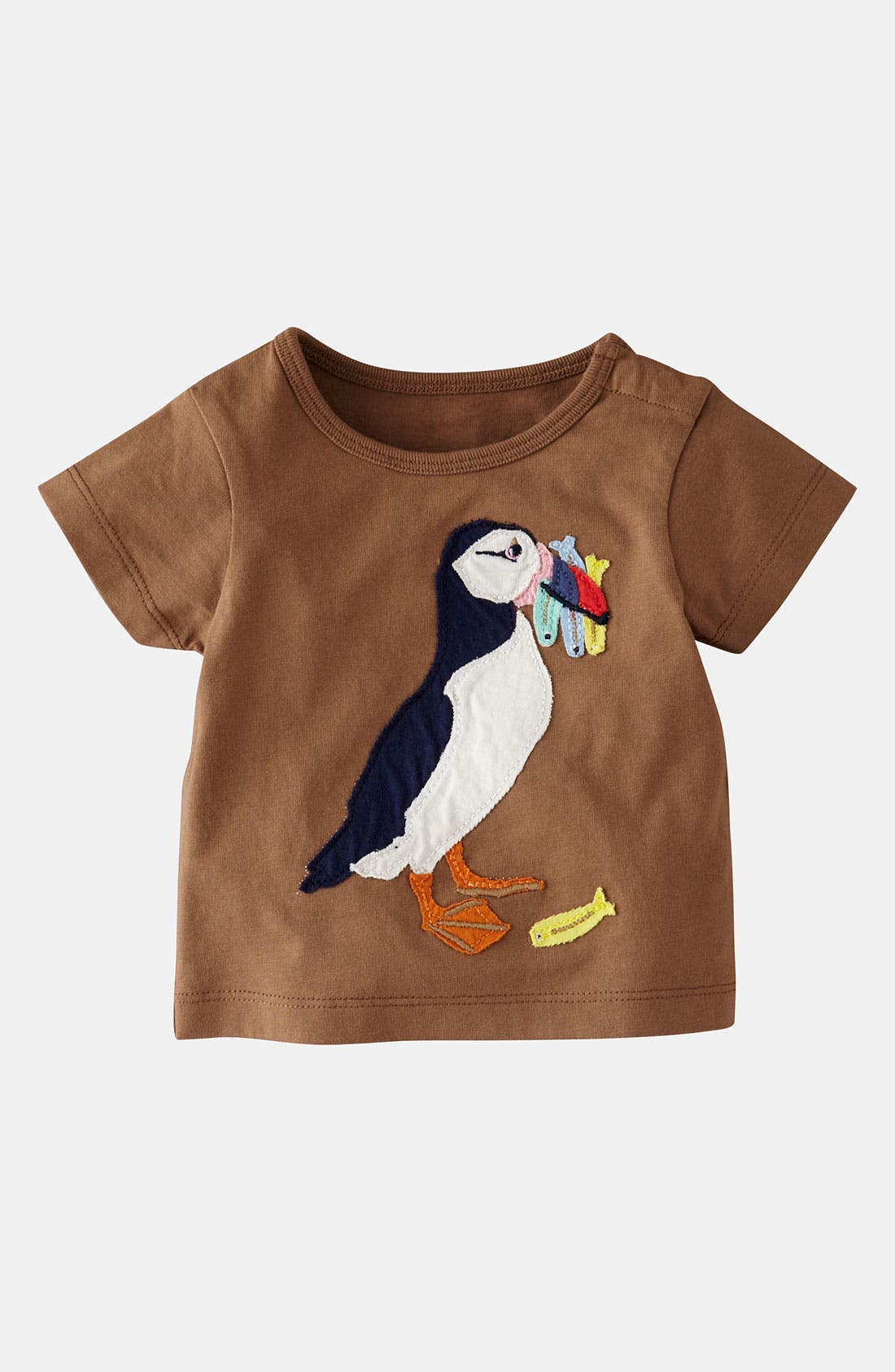 Main Image - Mini Boden 'Big Appliqué' T-Shirt (Baby)