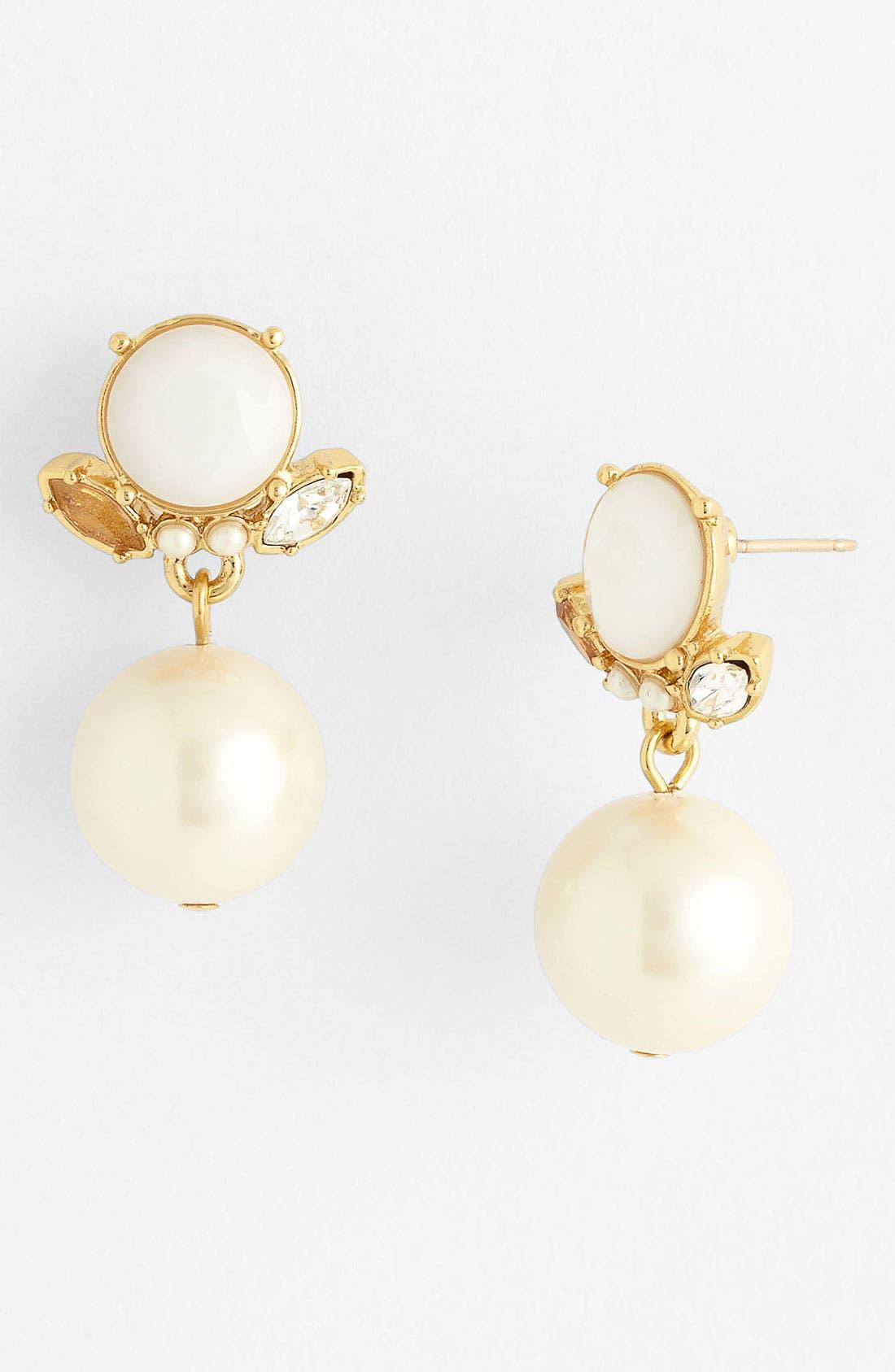 Main Image - kate spade new york 'belle fleur' drop earrings