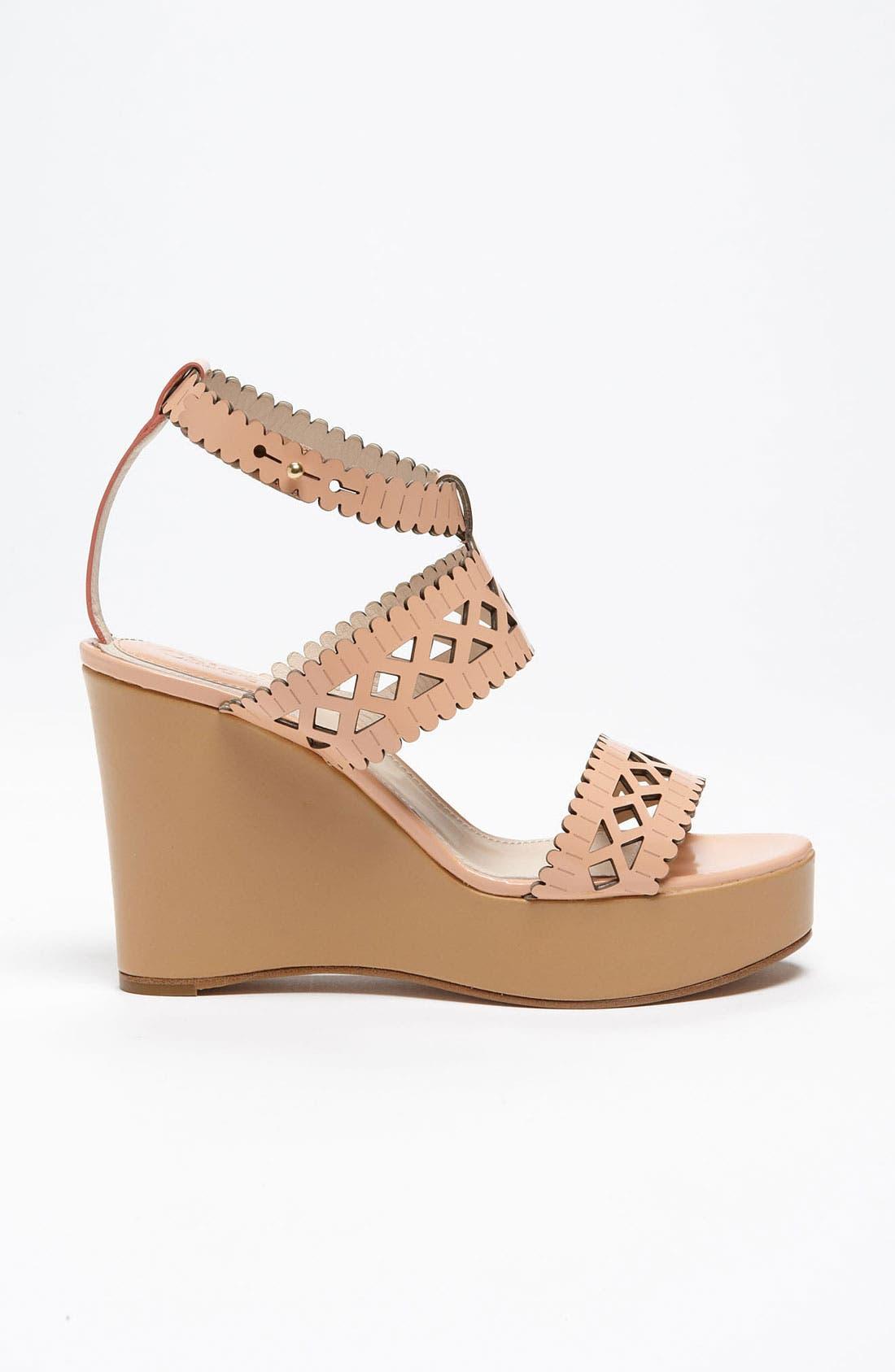 Alternate Image 4  - Chloé Laser Cut Wedge Sandal