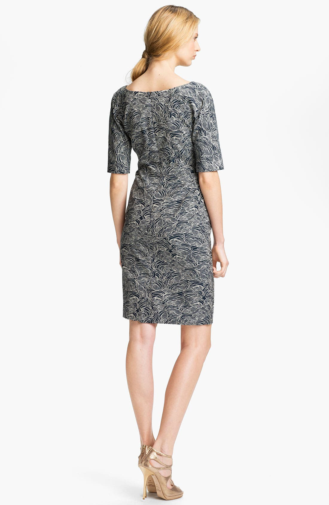 Alternate Image 2  - Lela Rose Print Sheath Dress