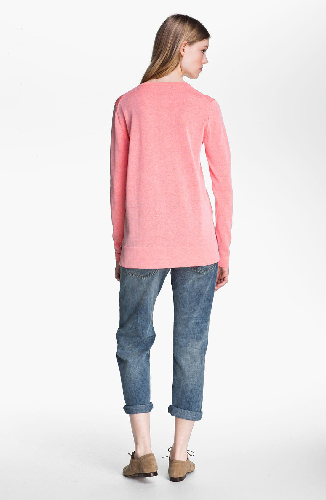 Alternate Image 3  - Tibi Reversible Neon Plaited Sweatshirt