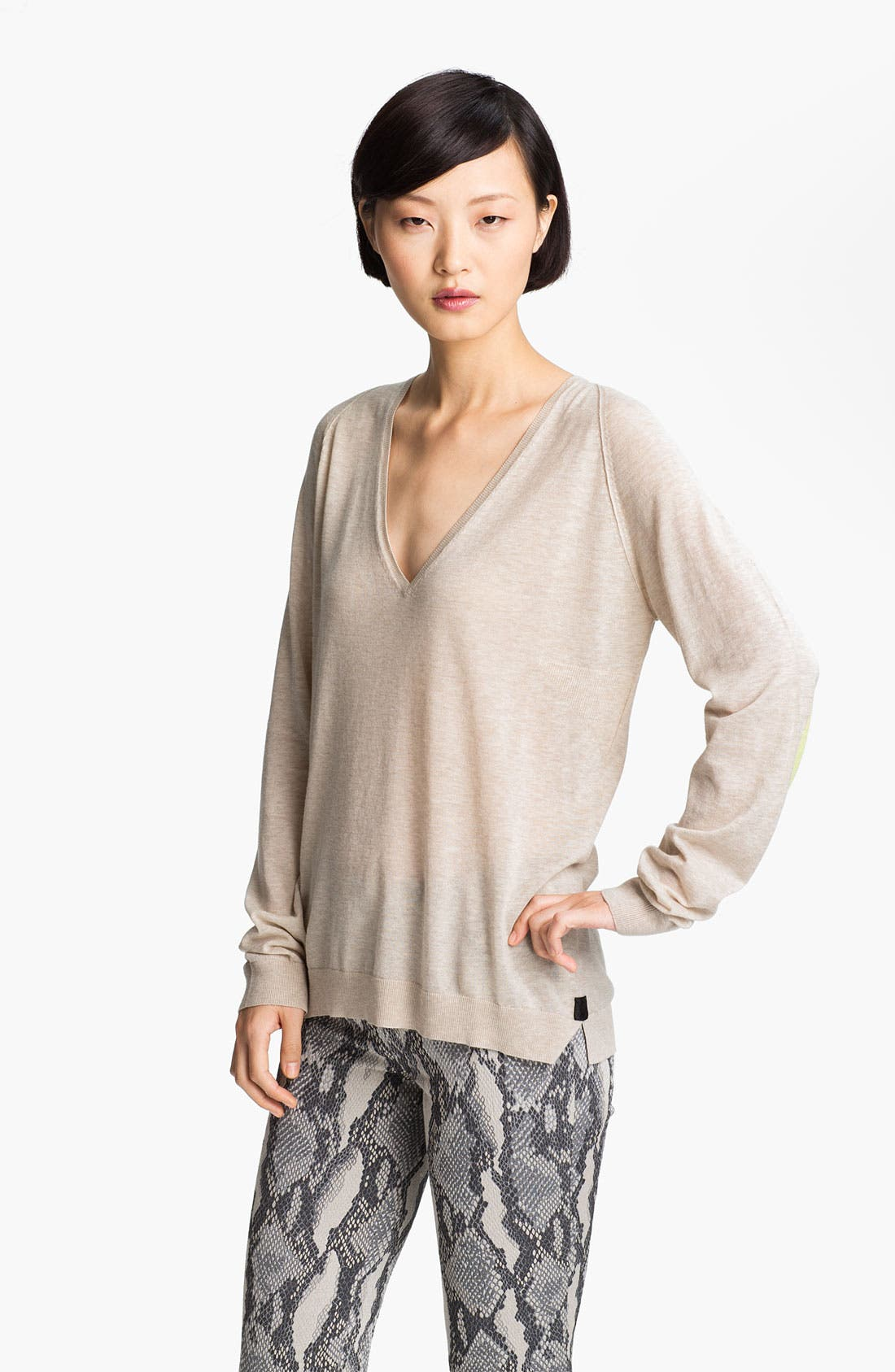 Main Image - Zadig & Voltaire Contrast Elbow Patch Sweater