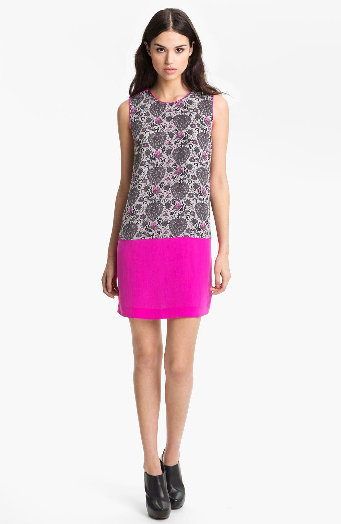 Alternate Image 1 Selected - Rebecca Taylor 'Lovebird' Silk Shift Dress