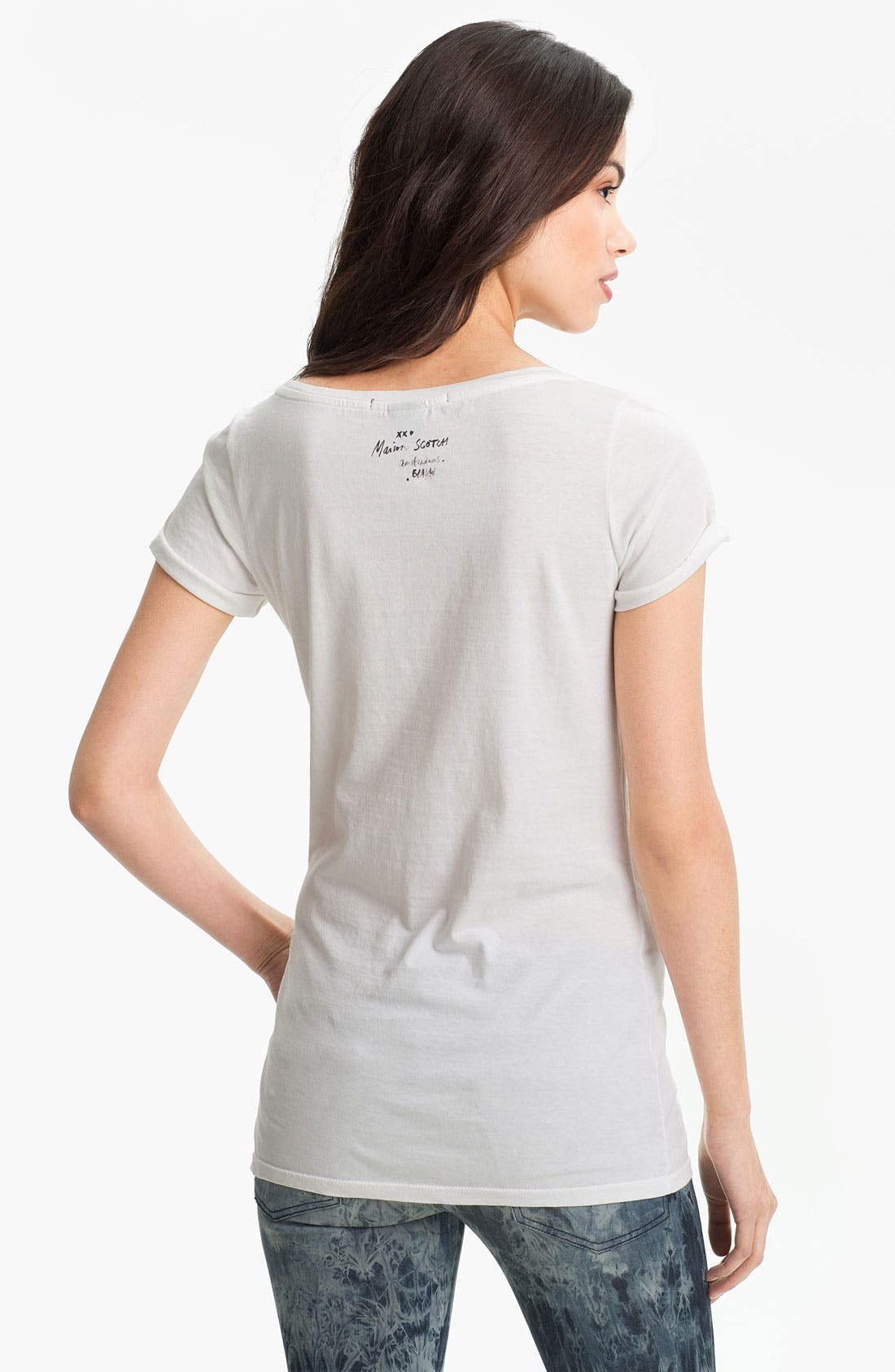 Alternate Image 2  - Maison Scotch Scoop Neck Tee