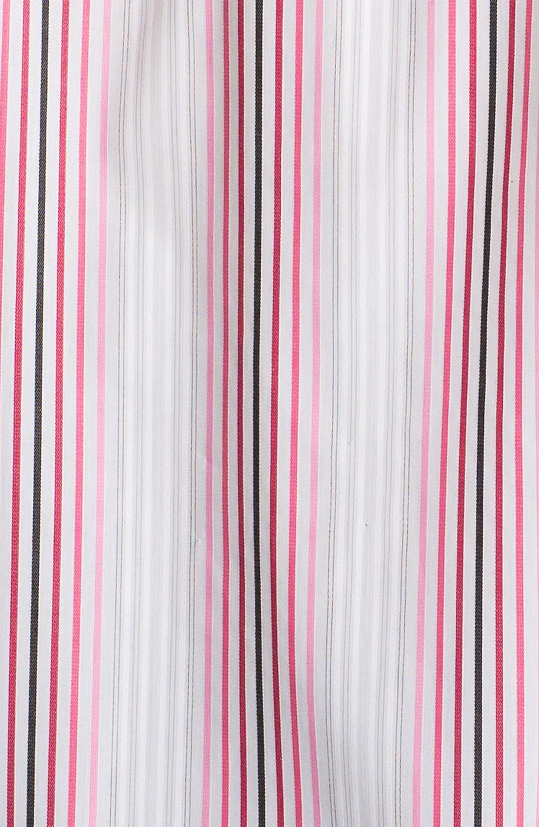 Alternate Image 3  - Foxcroft Double Face Stripe Shirt (Plus)