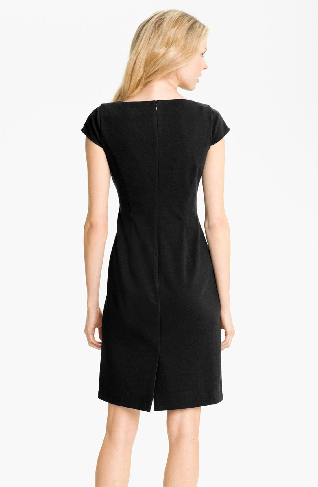 Alternate Image 2  - Tahari by Arthur S. Levine Cap Sleeve Ponte Sheath Dress