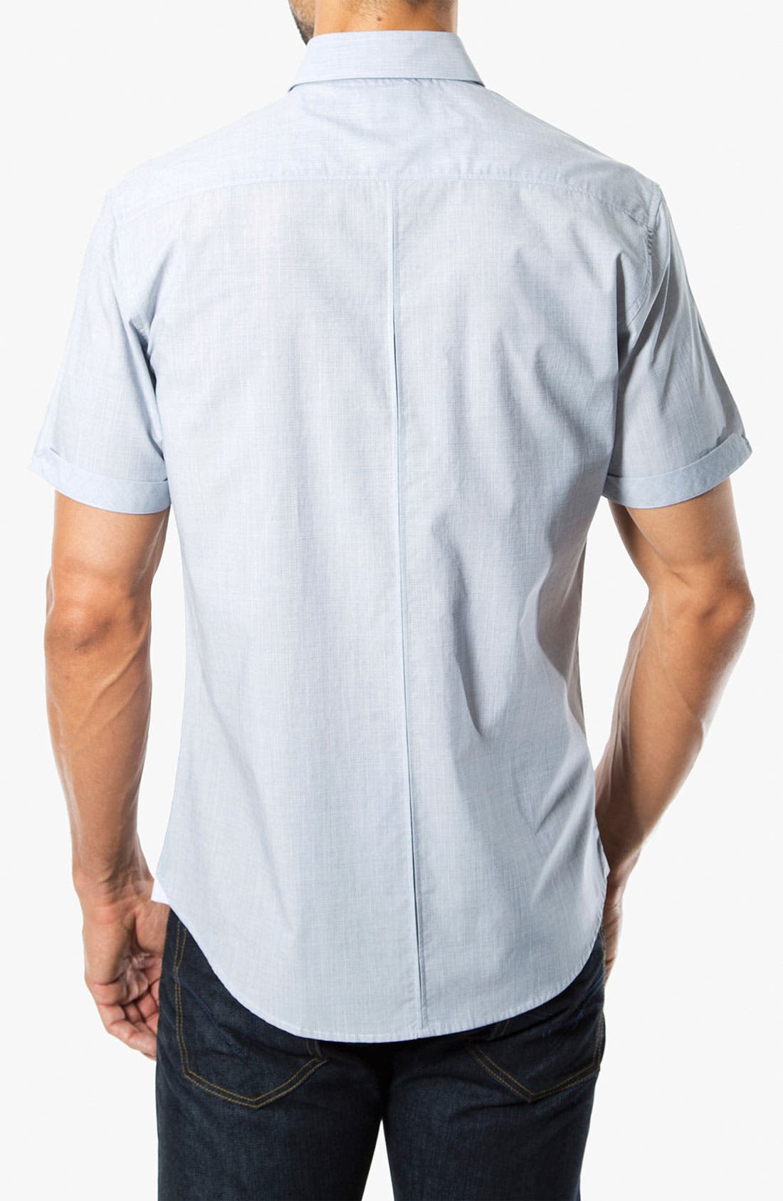 Alternate Image 2  - 7 Diamonds 'Perfect Way' Short Sleeve Woven Sport Shirt