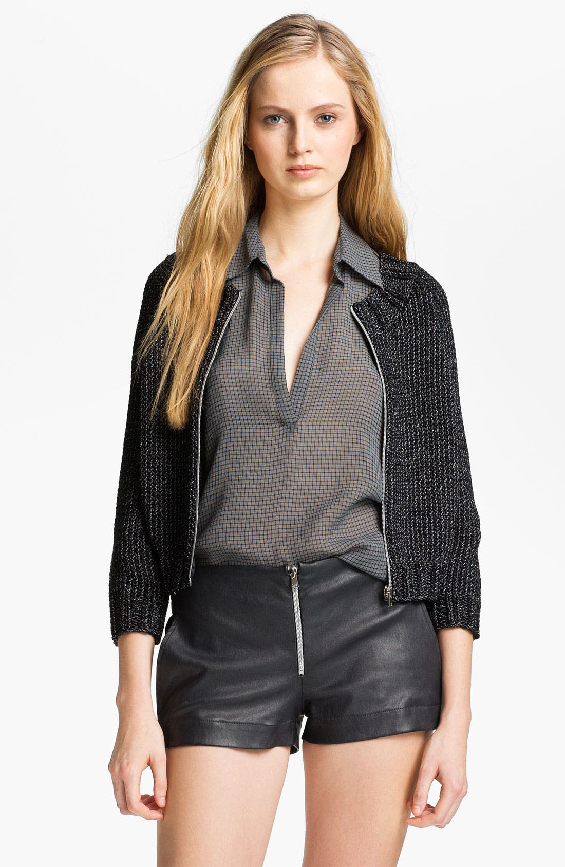 Alternate Image 3  - L'AGENCE Zip Front Crop Sweater