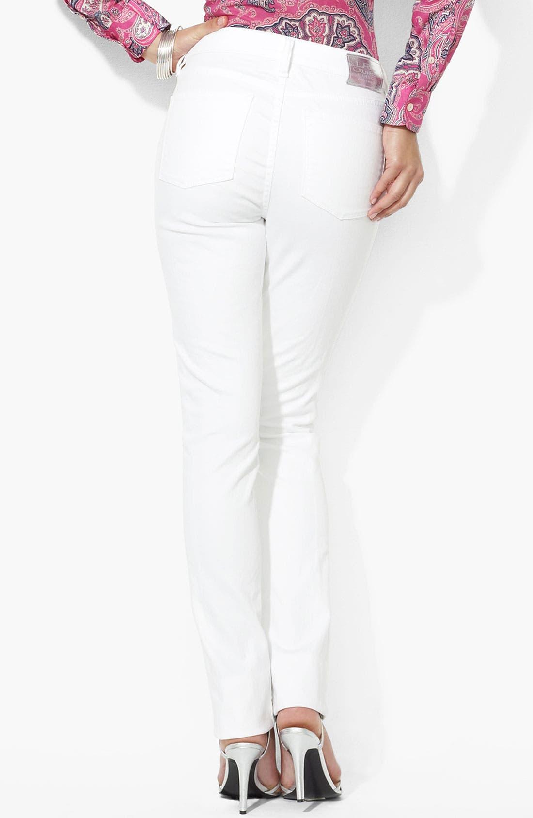 Alternate Image 2  - Lauren Ralph Lauren Slim Straight Leg Pants