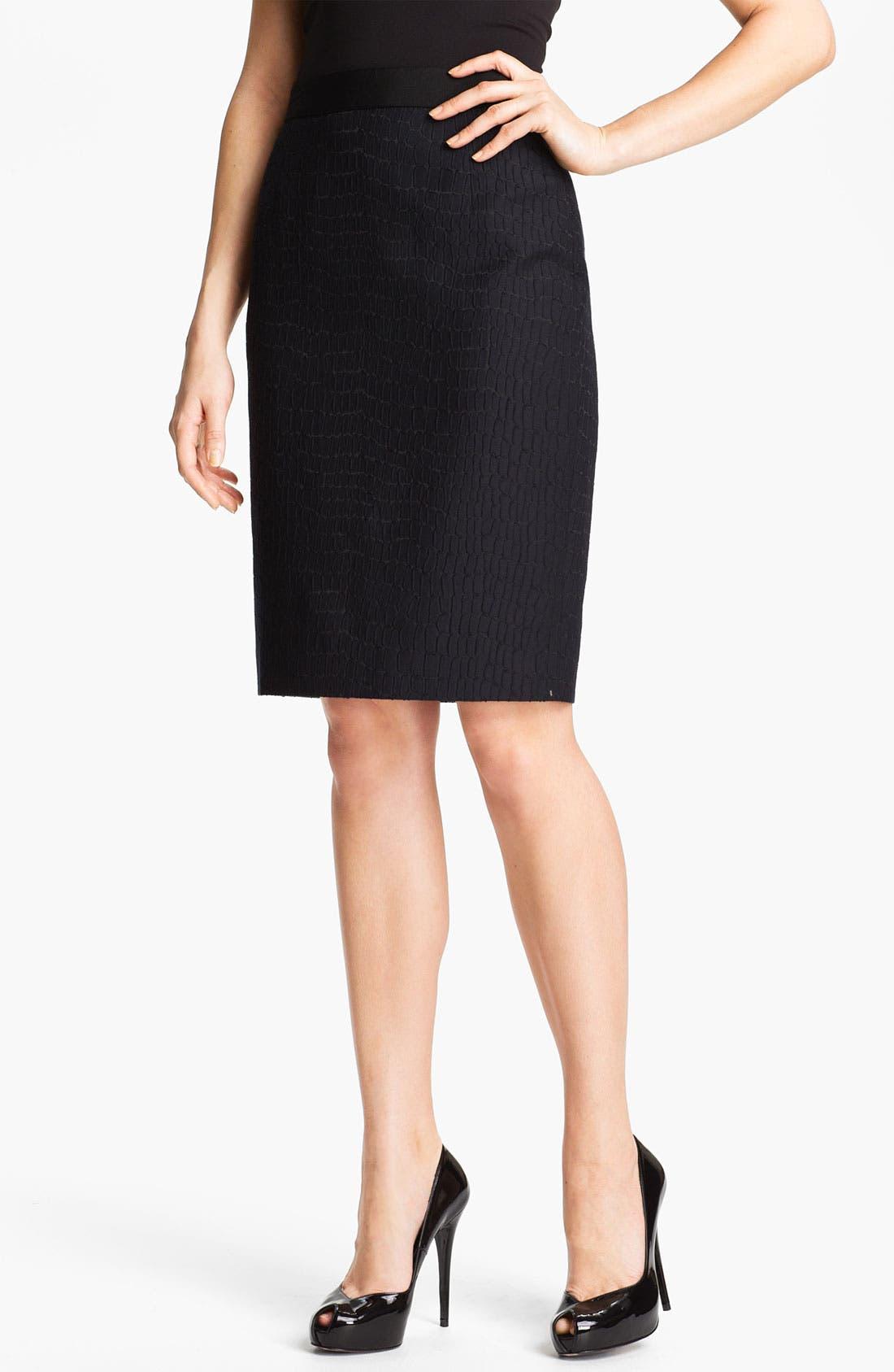 Alternate Image 1 Selected - Classiques Entier® 'Dahlia Jacquard' Skirt