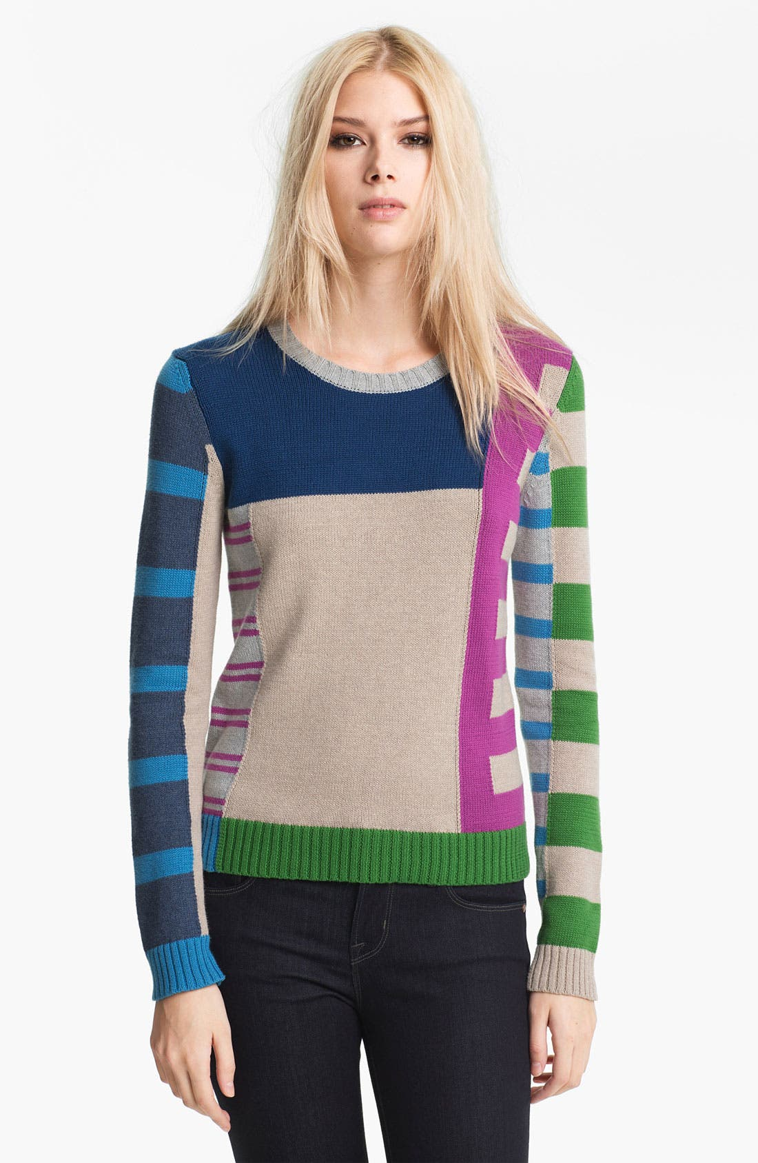 Alternate Image 1 Selected - MARC BY MARC JACOBS 'Drew' Stripe Sweater