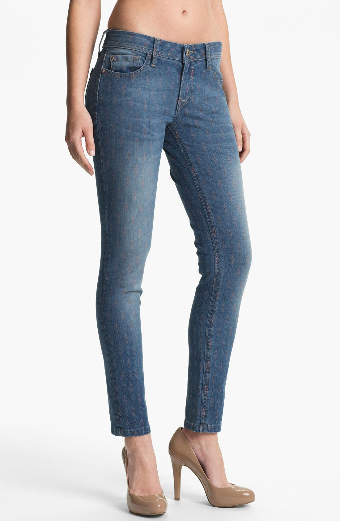 Main Image - DL1961 'Amanda' X-Fit Stretch Print Denim Skinny Jeans (Greenville)