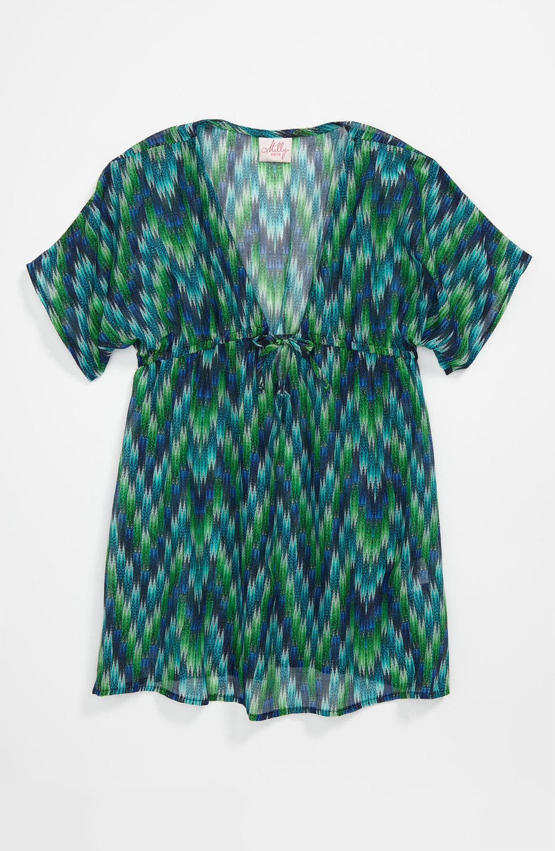Alternate Image 1 Selected - Milly Minis V-Neck Cover-Up (Big Girls)