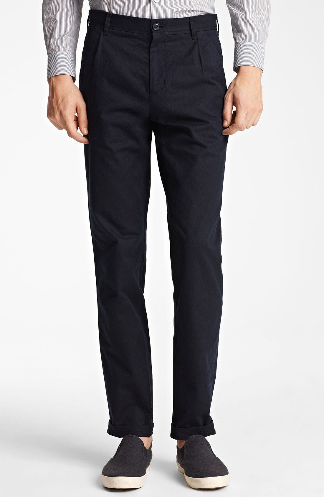 Alternate Image 1 Selected - A.P.C. Straight Leg Cotton Pants
